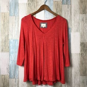Anthropologie Deletta Long Sleeves Top Size Large